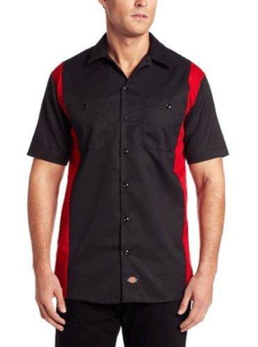 Dickies-Tuta da lavoro, da uomo, a maniche corte, Bk/Ch 2Tone Dow X-Tall Maglietta, colore: nero