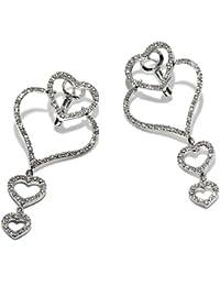 Gioie Women's Earrings in White 18k Gold with Diamond H/SI, 8.1 Grams