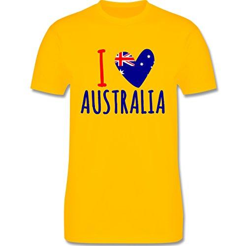 I love - I love Australia - Herren Premium T-Shirt Gelb
