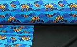 Der Buntspecht Softshell Monster Trucks, blau