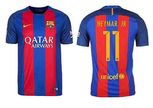 F.C. Barcelona Trikot Herren 2016-2017 Home Qatar - Neymar Jr 11 (S) -