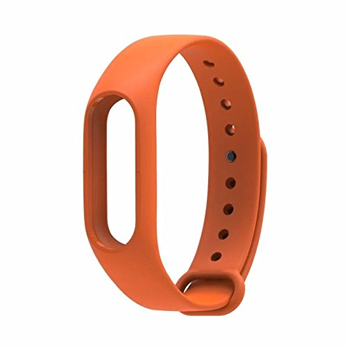 Mstick Wrist Strap Band Belt Wristband Silicone Wearable Case Cover For Xiaomi Mi Band 2,Orange  available at amazon for Rs.199