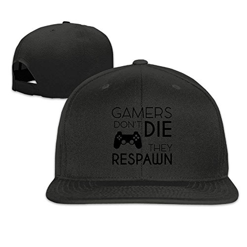 Mabaoyu Cap Gamers Don't Die They Respawn Color Adjustable Womens Mens Sports