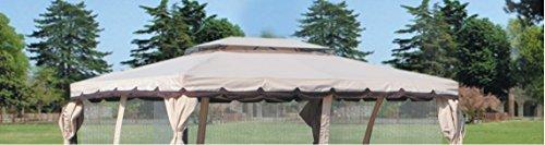 Top telo con airvent copertura di ricambio per gazebo 3x4 mt top 380 g/mq impermeabile