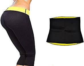 RAPID Women's Spandex and Neoprene Capri and Waist Shaper Belt (Black_XXL_7capbelRAPID)