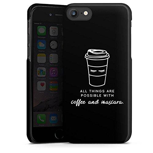Apple iPhone X Silikon Hülle Case Schutzhülle Mascara Kaffee Spruch Hard Case schwarz