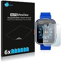 Savvies Protector de Pantalla para Vtech Kidizoom Smart Watch DX2 Película Protectora [6 Unidades] - Screen Protector