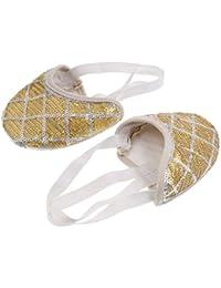 MagiDeal 1 Par Zapatos Media Suela de Danza Ballet Gimnasia Deportes Rítmica para Mujeres Niñas Cómodo
