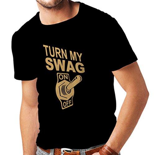 N4168 SWAGlustiges Geschenk, T-Shirt Schwarz Gold
