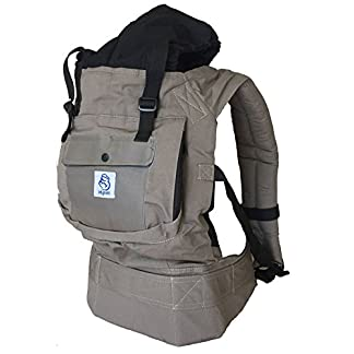 410sltYkTJL. SS324  - Mochila portabebes para llevar a tu bebe Manos libres - Portabebes de diseño Ergonómico con Múltiples posiciones - Se adapta a medida que tu hijo crece