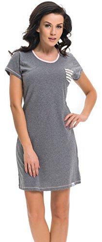 dn-nightwear - Chemise de nuit - Femme gris foncé