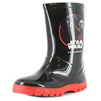 Star Wars New Boys/Childrens Black/Red Coppola PVC Wellington Boots. - Black/Red - UK Sizes 1-13
