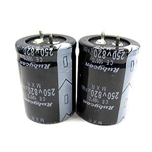 Heaviesk 2 Stück Elektrolytkondensatoren 250V 820uF Volumen 30×40 mm 820uF 250V Neu