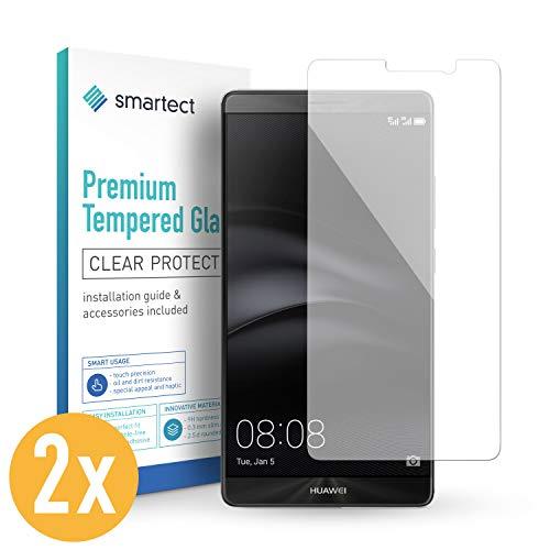 smartect Panzerglas für Huawei Mate 9 [2 Stück] - Bildschirmschutz mit 9H Härte - Blasenfreie Schutzfolie - Anti Fingerprint Panzerglasfolie