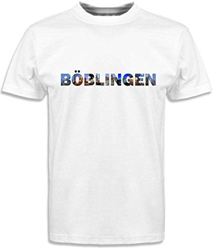T-Shirt mit Städtenamen Böblingen Weiß