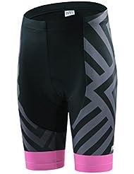 dushow verano cómodo alta calidad de la mujer ciclismo Jersey conjunto manga corta con 3d acolchado pantalones cortos
