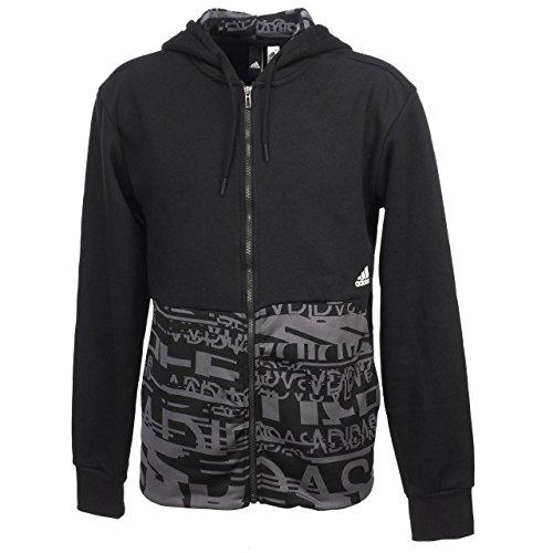 adidas Herren Sid Fabric Fz Sweatshirt Black/Negro XL Preisvergleich