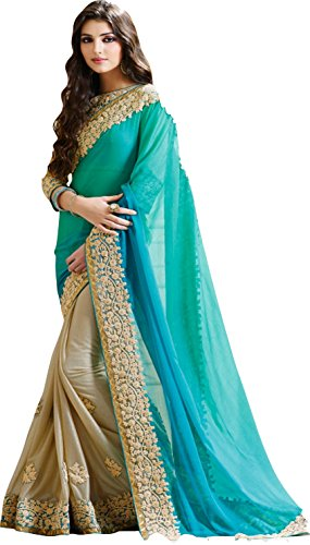 saree(SARGAM FIROZI BLUE SAREE)