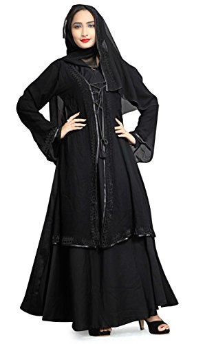 Justkartit Islamic Wear 2017 Dubai Arabic Black Diamond Stone Work Abaya Burkha...