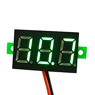 Aihasd Mini Digital Voltmeter LED Panel Voltage Meter Spannungsanzeige Panelmeter DC 2.7-30V grün