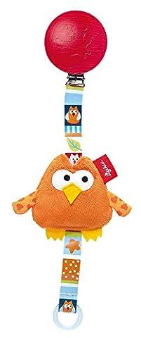 Sigikid 41207 Playq Garden Friends Pacifier Strap Owl, 26 x 7 x 2 cm