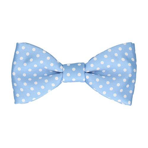 Mrs Bow Tie Stratton Fliege with Dots, Fertig gebundene - Helles Himmelblau -
