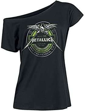Metallica 100% Fuel Girl-Shirt schwarz