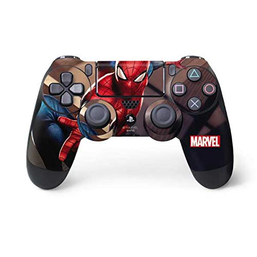 Skinit Skin pour Manette de PS4 Marvel Disney Marvel Comics Spiderman Small Spider-Man in City