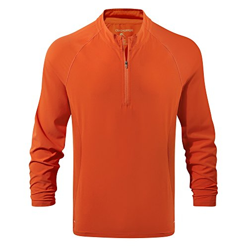Craghoppers NosiLife Aktiver Langarm Half-Zip Men - Pullover orange