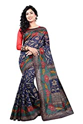 Glory Sarees Women's Art Silk Saree (VNArt03_blue)