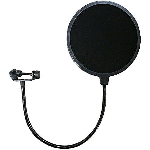 Forepin® Professionale Microfono Filtro Schermo Antivento Microfono con Girevole Montare 360 Supporto Flessibile Filtro Anti-pop