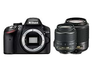 Nikon D3200 Appareil photo numérique Reflex 24.7 Kit + Objectif AF-S DX Nikkor VR 18-55 mm + Objectif 55-200 mm Noir