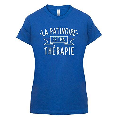La patinoire est ma thérapie - Femme T-Shirt - 14 couleur Bleu Royal