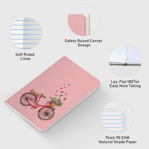 Factor Notes - Cycle (Pink) Ruled B6 Notebook - Premium Stationery, Natural Shade Paper Journal Diary - Size - 120mm X 180mm Image 2
