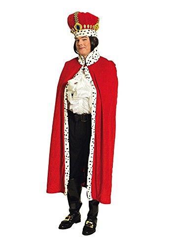 Königsumhang für Erwachsene 130 cm (König Für Erwachsene Herren Kostüm)
