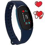 Herzfrequenzmesser, wasserdichtes Armband Fitness Tracker Uhr mit Blutdruckmessung – Smart Armband Schrittzähler Uhr mit Schritten / Kalorienverbrauch, Distanzzähler, SMS/SNS und Anruferinnerung.