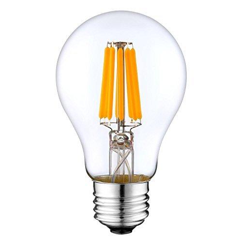 12Vmonster DC 12 Volt 6 Watt Cool White 6000k LED Edison Filament A19 A60  Light Bulb E26 E27 Medium Base Lamp DC 12V 24V 36V Portable Solar Battery