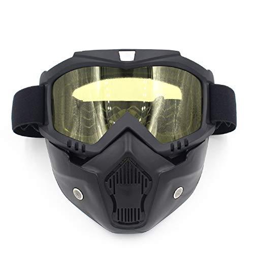 Off-objektiv (Yiph-Sunglass Sonnenbrillen Mode Motorrad Helm Reiten Off-Road-Ausrüstung im Freien Harley Brille Maske Platte Objektiv Maske Schutzbrille (Color : Yellow))