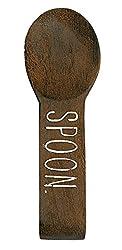 Mud Pie 4134000S Wooden Spoon Rest, Brown