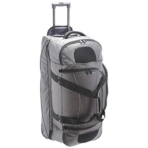 Dermata Reise Reisetasche auf Rollen mit Rucksackfunktion 86 cm grau