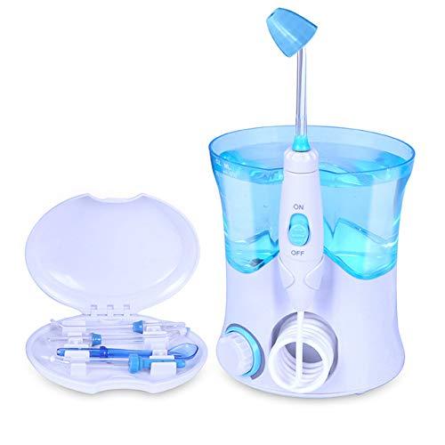CANDYANA Elektrisches Nasennebenhöhlen-Spülset Nasenreiniger Neti Pot Nasal Allergic Rhinitis Behandlung Erwachsene und Kinder Verwenden 10 Dateien Einstellbar,White,210x150x100mm