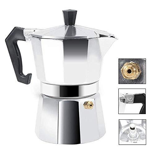 CLDGF Cafetera Octagon Espresso, Cafetera, Café Moca De Aluminio (150ML 3CUP, 300ML 6CUP, 450ML 9CUP, 600ML 12CUP Opcional),600ML12CUP