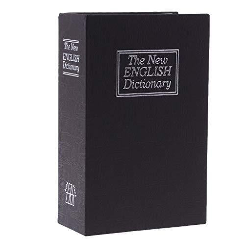 perfk Portable Diversion Book Safe Box W / Lock Per La Memorizzazione Di Denaro Gioielli Passaporto - Nero, come descritto