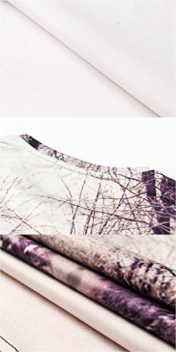 Pretty321 Men Women 3D Galaxy & Scenery Print Fashion Casual T-Shirt Collection Snowy Road