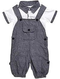 Conjuntos de ropa, Dragon868 Bebé recién nacido manga corta camiseta + conjuntos de mono