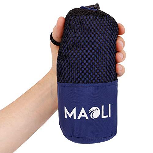 MAOLI Sommer-Schlafsack aus Mikrofaser - Dünner Hüttenschlafsack, Reiseschlafsack für Zelt, Camping, Festival, Reisen - Ultraleicht (<350 g), atmungsaktiv, sehr kleines Packmaß - Outdoor-Ausrüstung (Kleines Zelt-camper)
