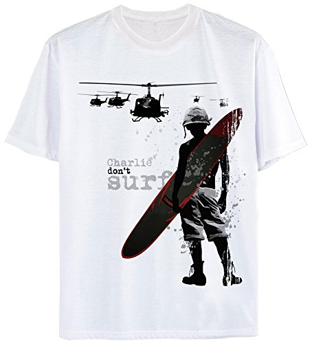 Full Metal Jacket Shirt (T-Shirt Charlie Don't surf Apocalypse Now Platoon Full Metal Jacket L)