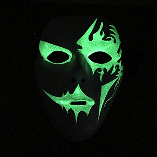 LUXACURY Halloween Cosplay Mask Frightening Led EL Wire Light Up Mask Party Luminous Mask for Festival Parties Halloween Makeup Party  Green  Luminous Mask