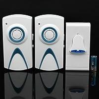 Interruttore 35Melody Chime UE Plug Door Bell 1telecomando con 2ricevitori