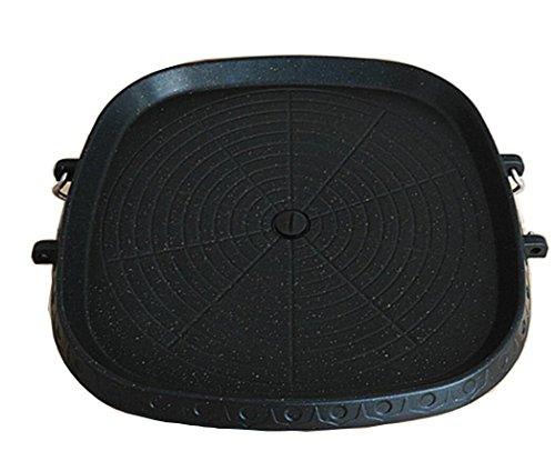 dingsheng BBQ Produkte Medical Stein beschichtet Square Barbecue Gericht tragbaren Grill Tablett Double Unterseite für Family Grill-Pizza Stein mit Rahmen aus Edelstahl